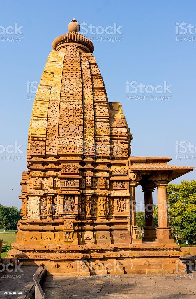 Hindu jain temples at Khajurao India stock photo