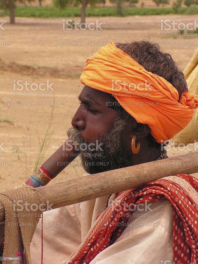 Hindu old man royalty-free stock photo
