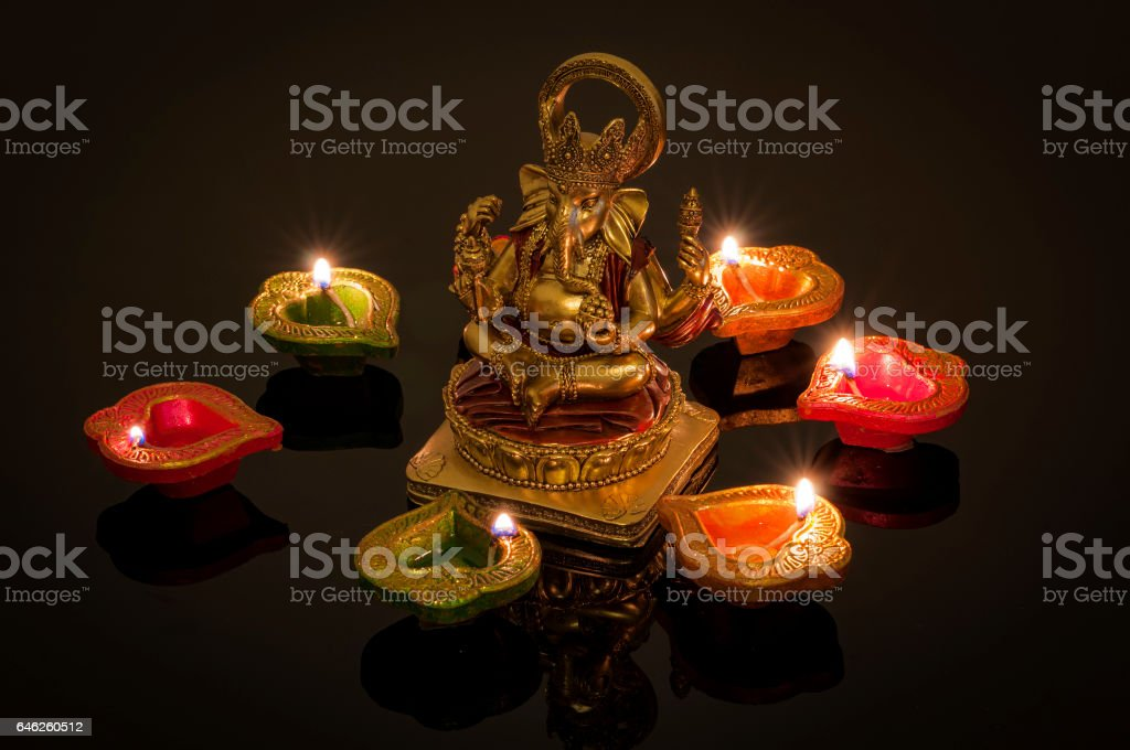 Hindu religion and Indian celebration of Diwali stock photo