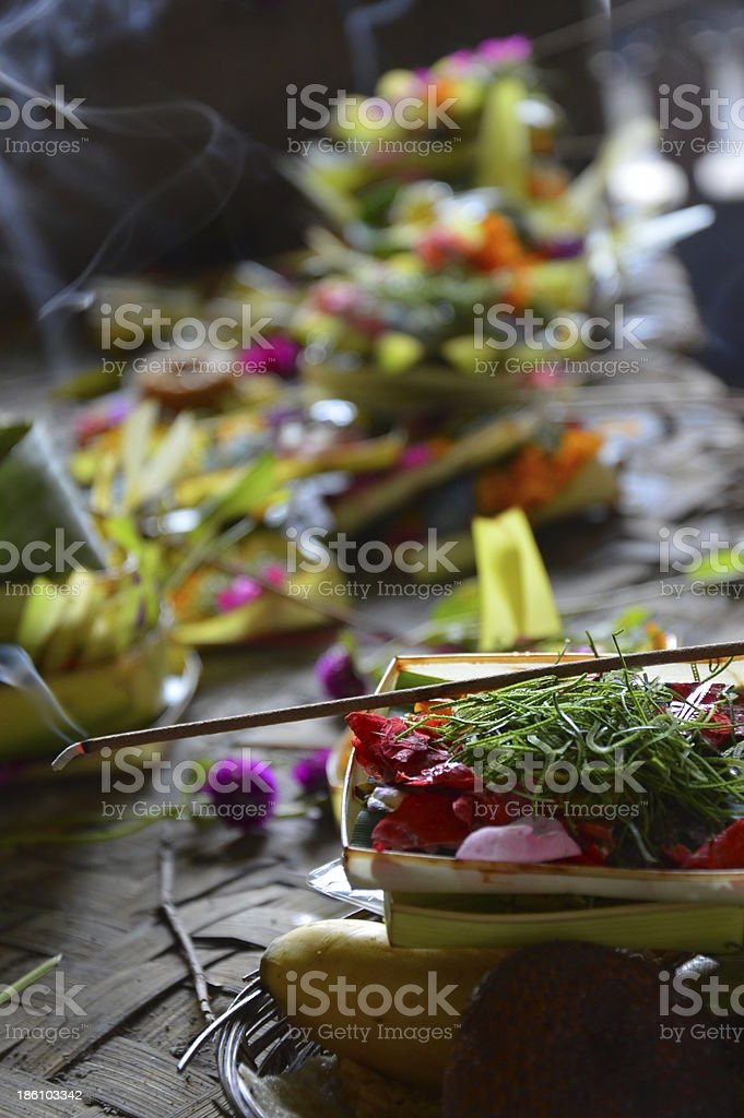 Hindu Religious Offerings royalty-free stock photo