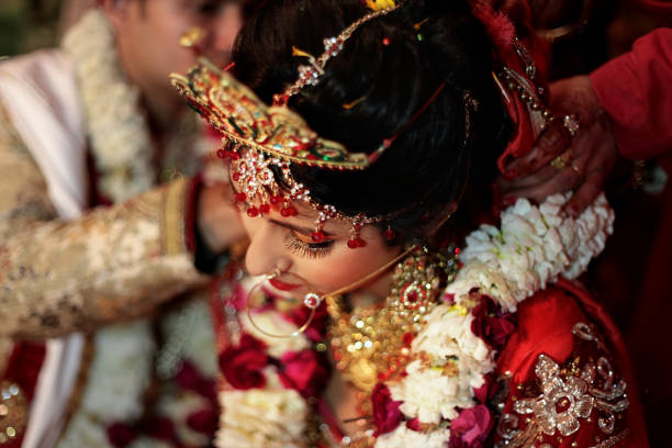 Hindu ritual wedding ceremony stock photo