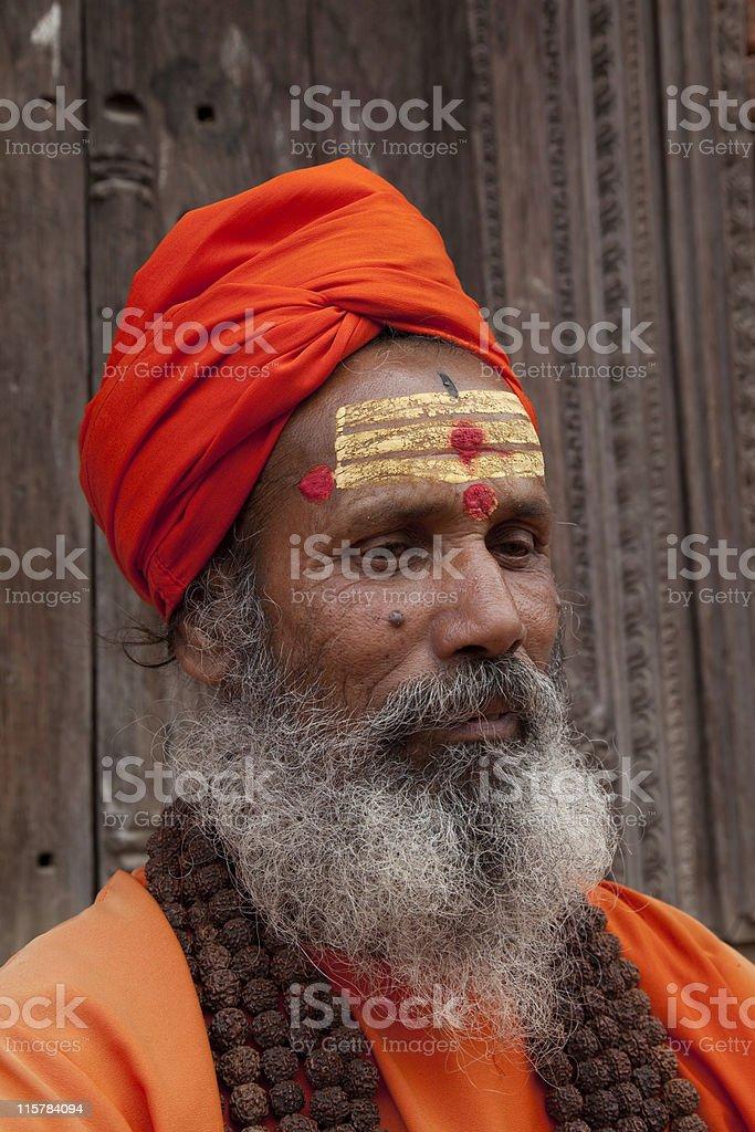 Hindu Saddhu Nepal royalty-free stock photo