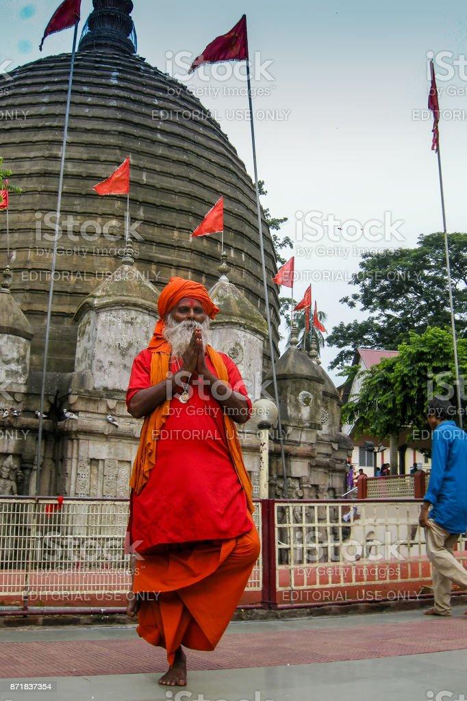 Hindu Sadhu Kamakhya Tempel, Guwahati, Assam. – Foto