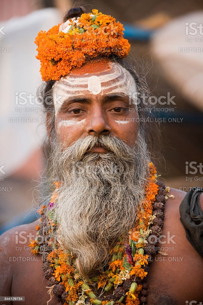 Hindu Sadhu - Varanasi - India stock photo