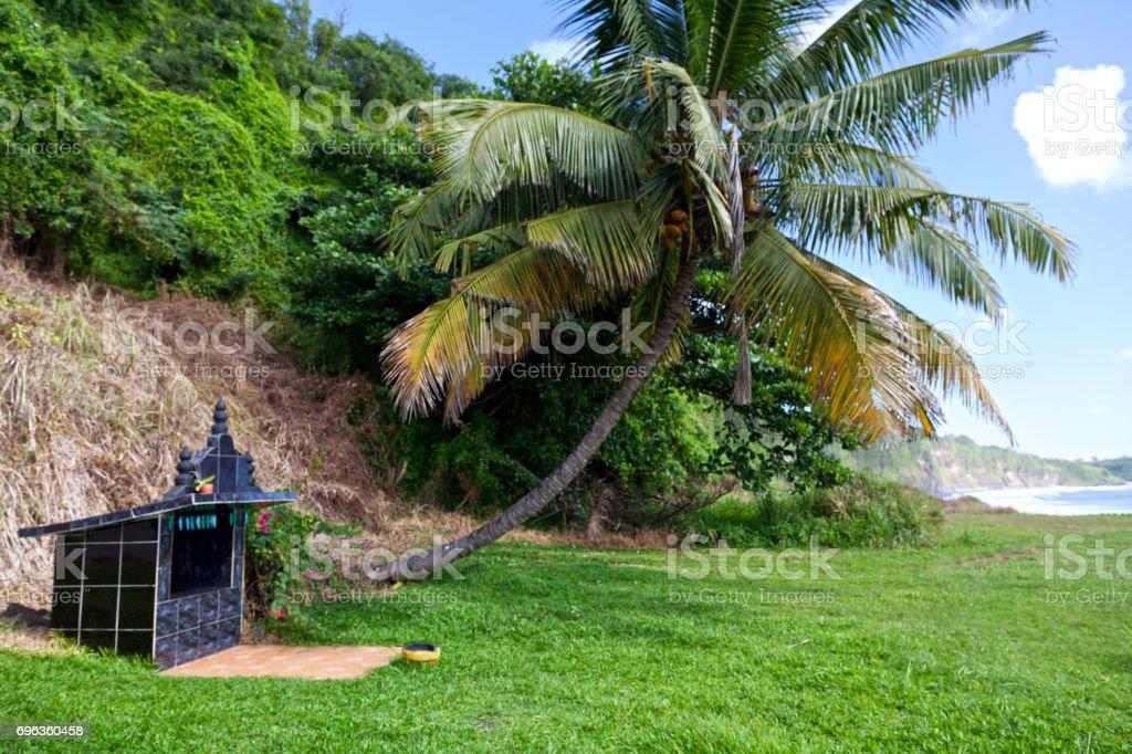 Hindu shrine by the sea - Reunion Island stock photo