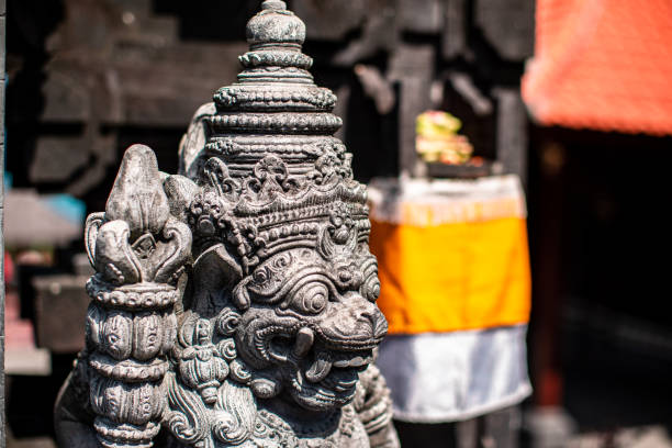 Hindu Statue in Bali stock photo