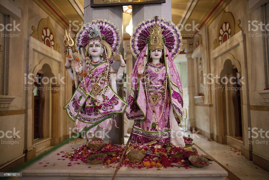 Hindu statues in New Delhi, India stock photo