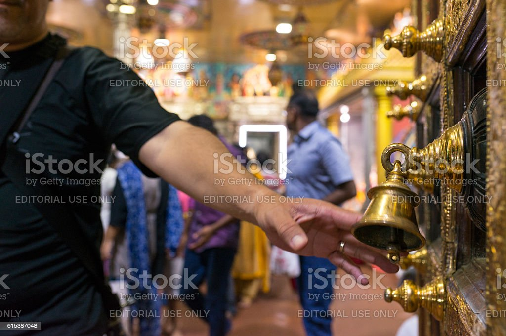 Hindu Temple at Little India, Singapore stock photo