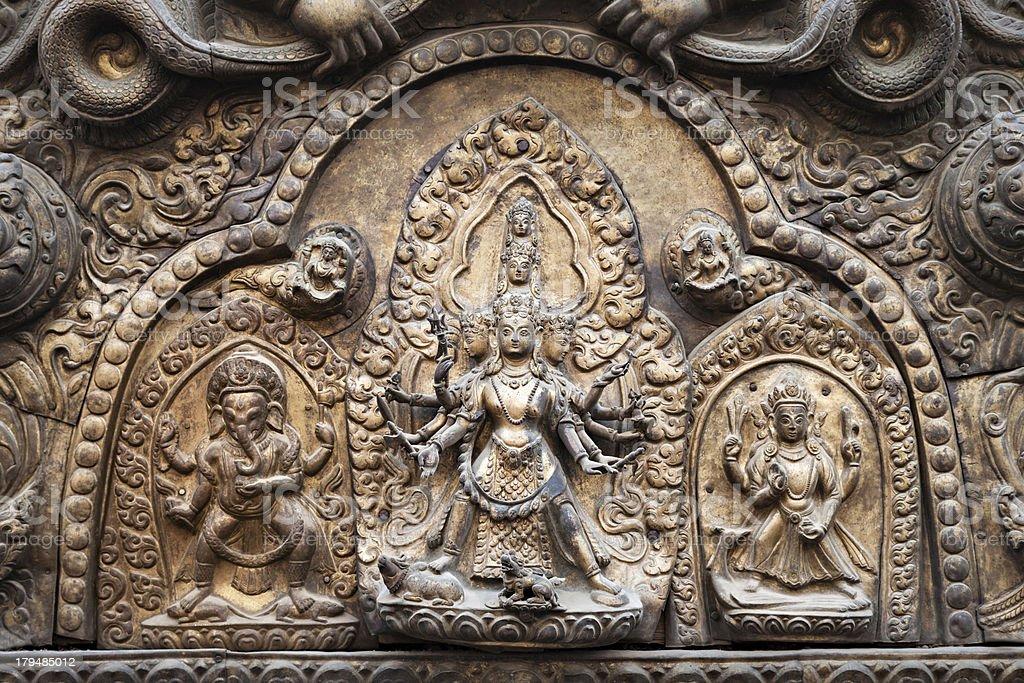 Hindu temple decor stock photo