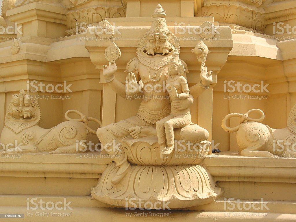Hindu Temple Deity royalty-free stock photo