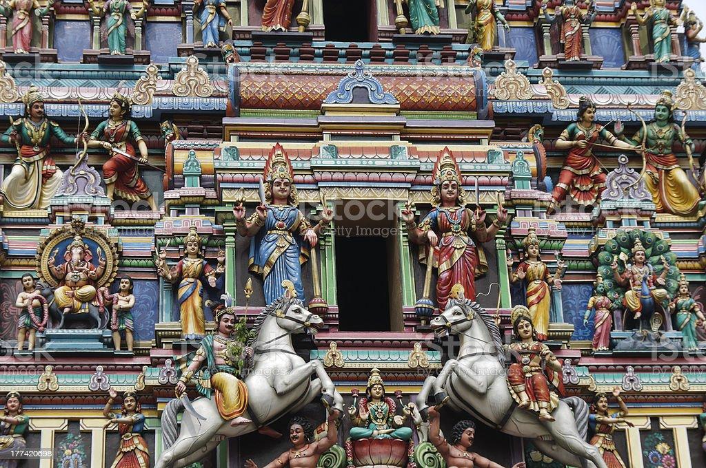 Hindu temple  figure royalty-free stock photo