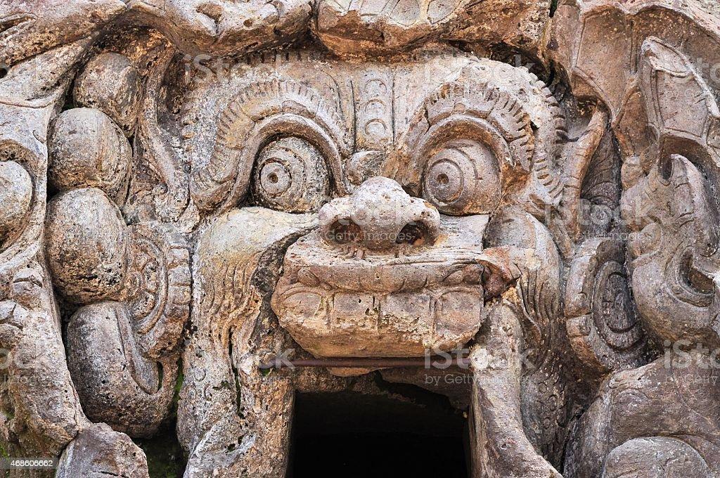Hindu temple Goa Gajah, Ubud, Bali, Indonesia stock photo