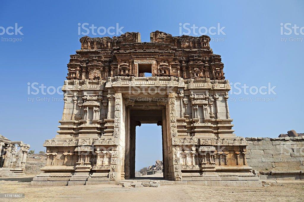 Hindu temple, Hampi royalty-free stock photo