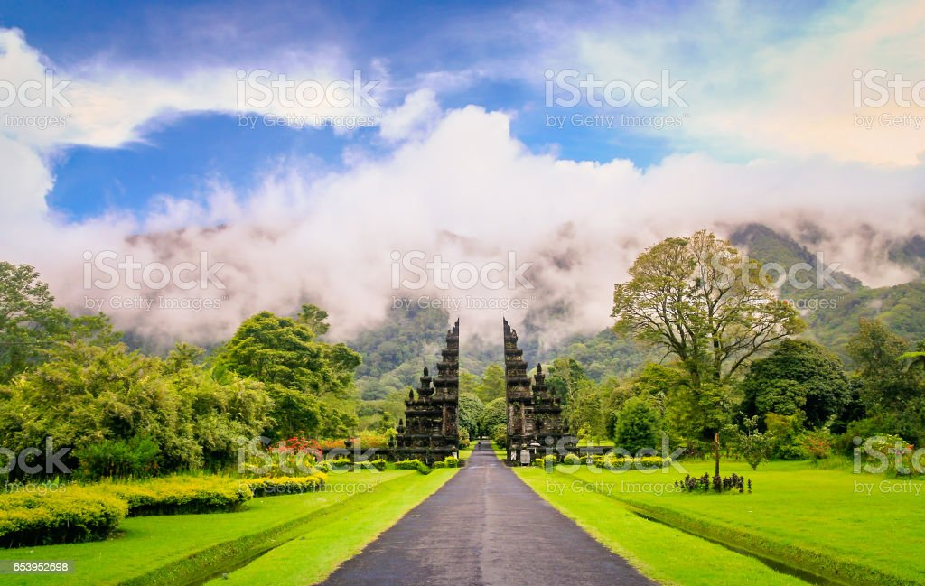 Hindu temple in Bali stock photo