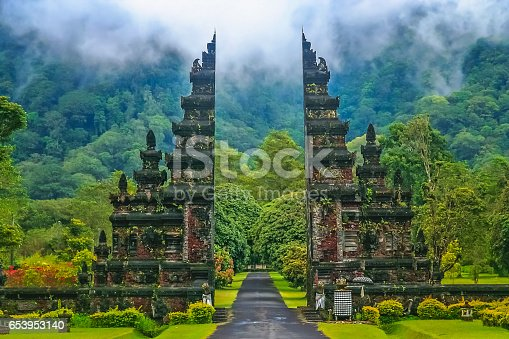 Gates to one of the Hindu temples in Bali in Indonesia
