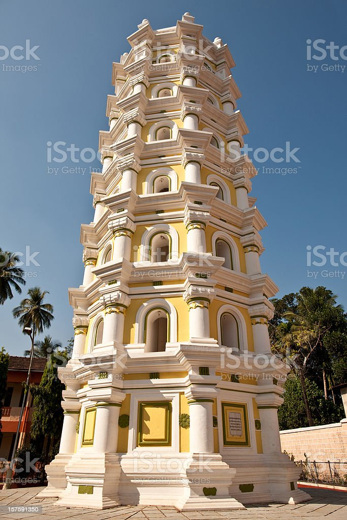 Hindu Temple in Goa royalty-free stock photo
