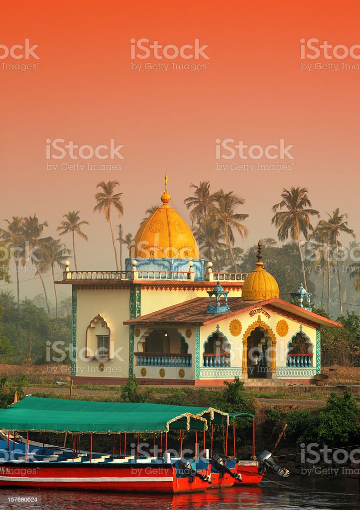 Hindu Temple in Goa stock photo