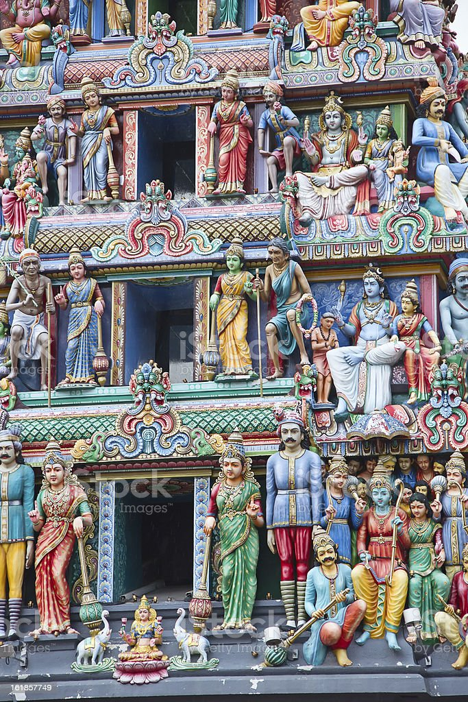 Hindu temple in Singapore royalty-free stock photo