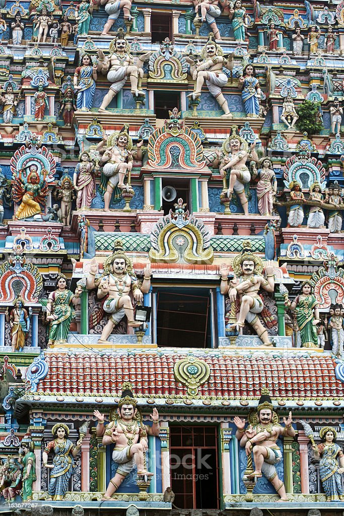 Hindu Temple in South India stock photo