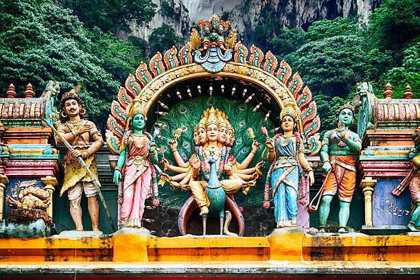 Hindu temple, Kuala Lumpur - Malaysia A Hindu temple at the Batu Caves in Kuala Lumpur. kuala lumpur batu caves stock pictures, royalty-free photos & images