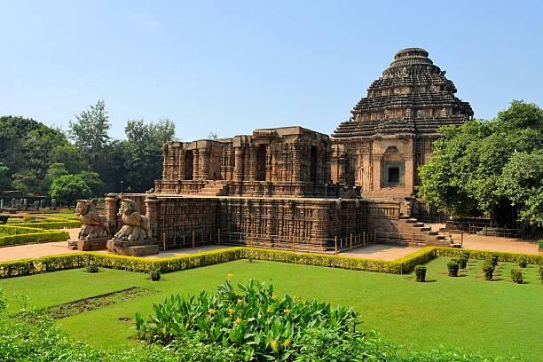 Hindu Temple of the Sun, Konark, India stock photo