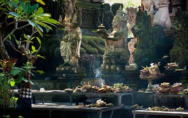 Hindu Temple Offerings stock photo