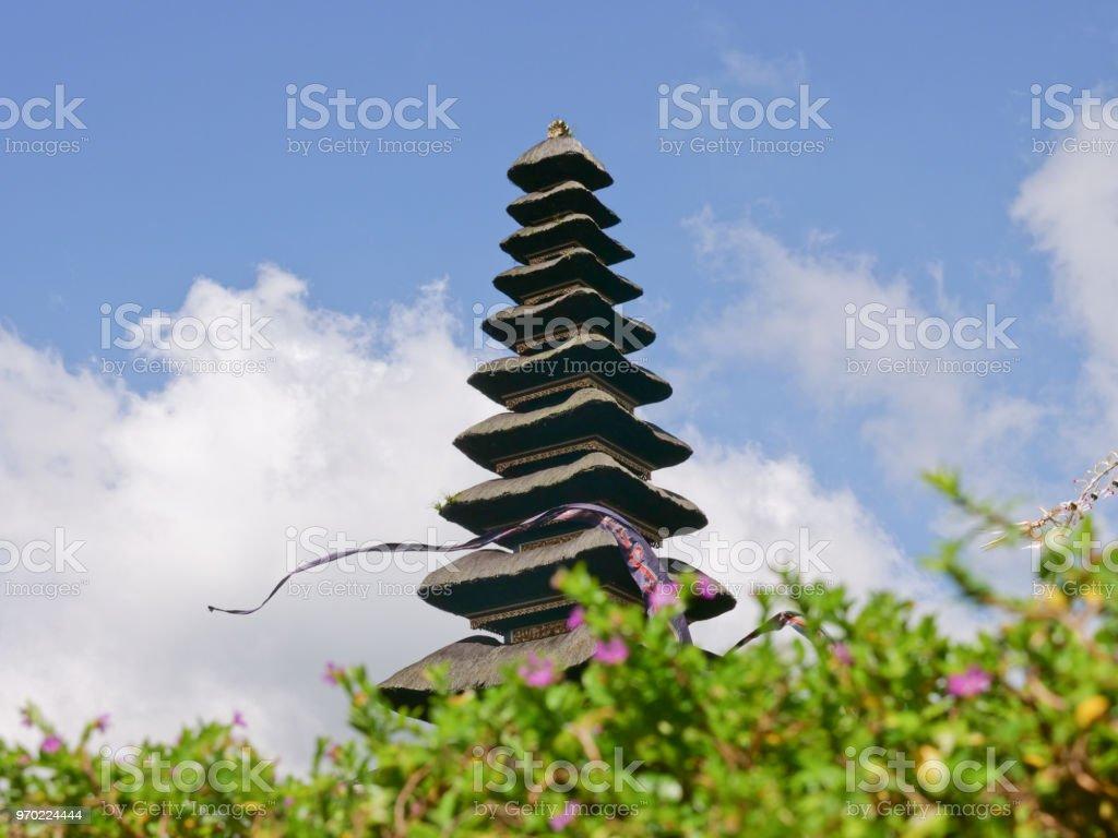 Hindu temple on the island of Bali. Pura Ulun Danu Bratan stock photo