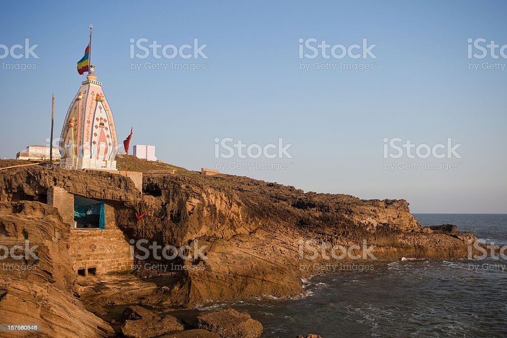 Hindu Temple On The Sea royalty-free stock photo