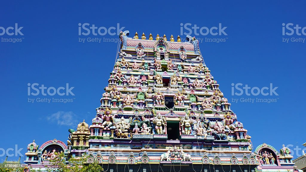 hindu temple stock photo