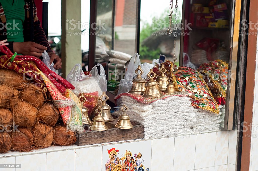 Hindu Temple Shop royalty-free stock photo