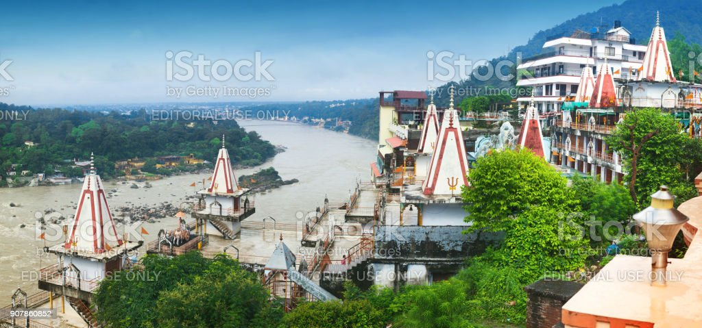 Hindu temple 'Sitaram Dham' stock photo