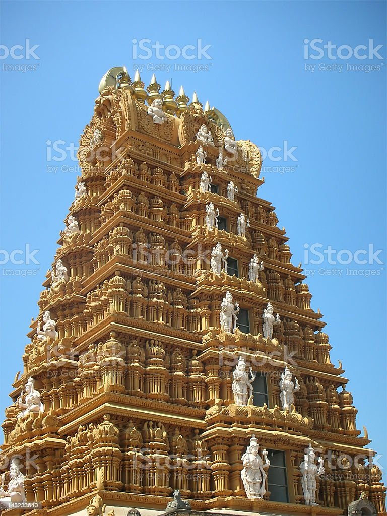 Hindu Temple Tower royalty-free stock photo