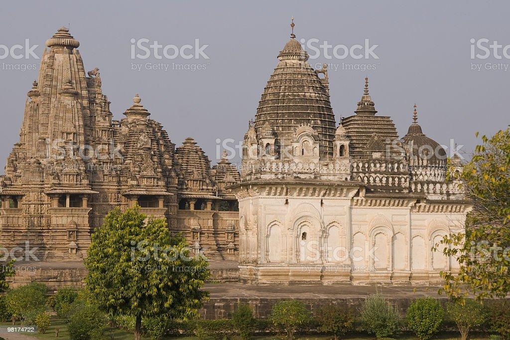 Aste indù a Khajuraho foto stock royalty-free