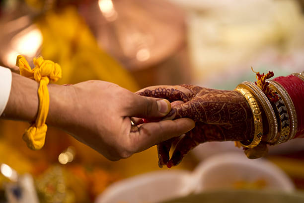 hindu wedding ceremony - hinduism stock photos and pictures