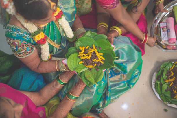 hindu wedding stock photo