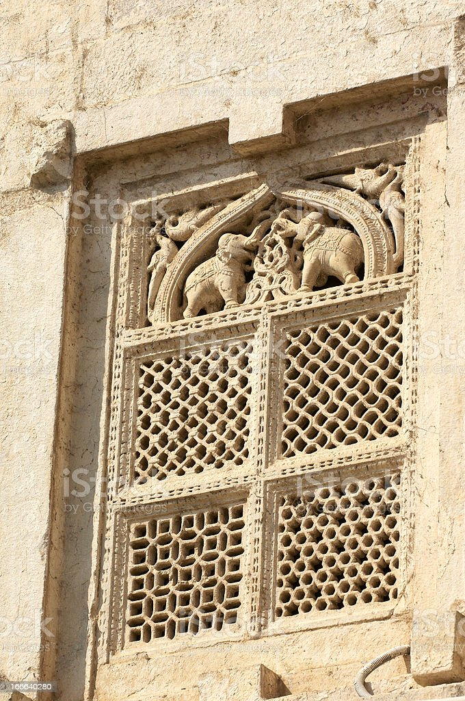 Hindu window stock photo