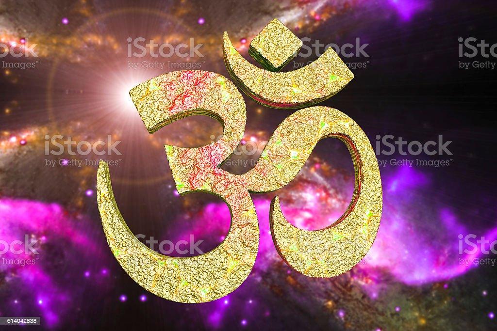 Hindu Word Reading Om Or Aum Symbol