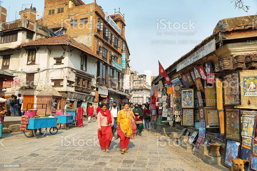 Hinduism people in Kathmandu stock photo
