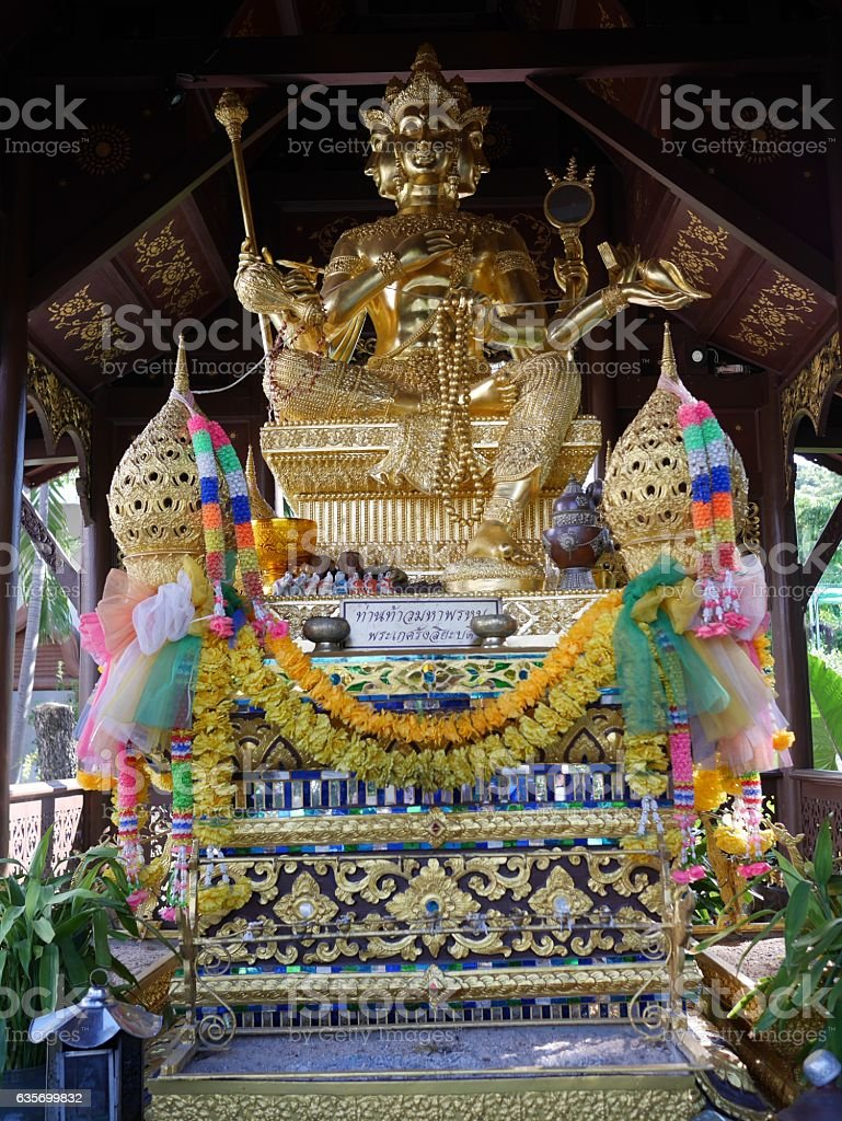 Hinduism statue or phra phrom in Thailand royalty-free stock photo
