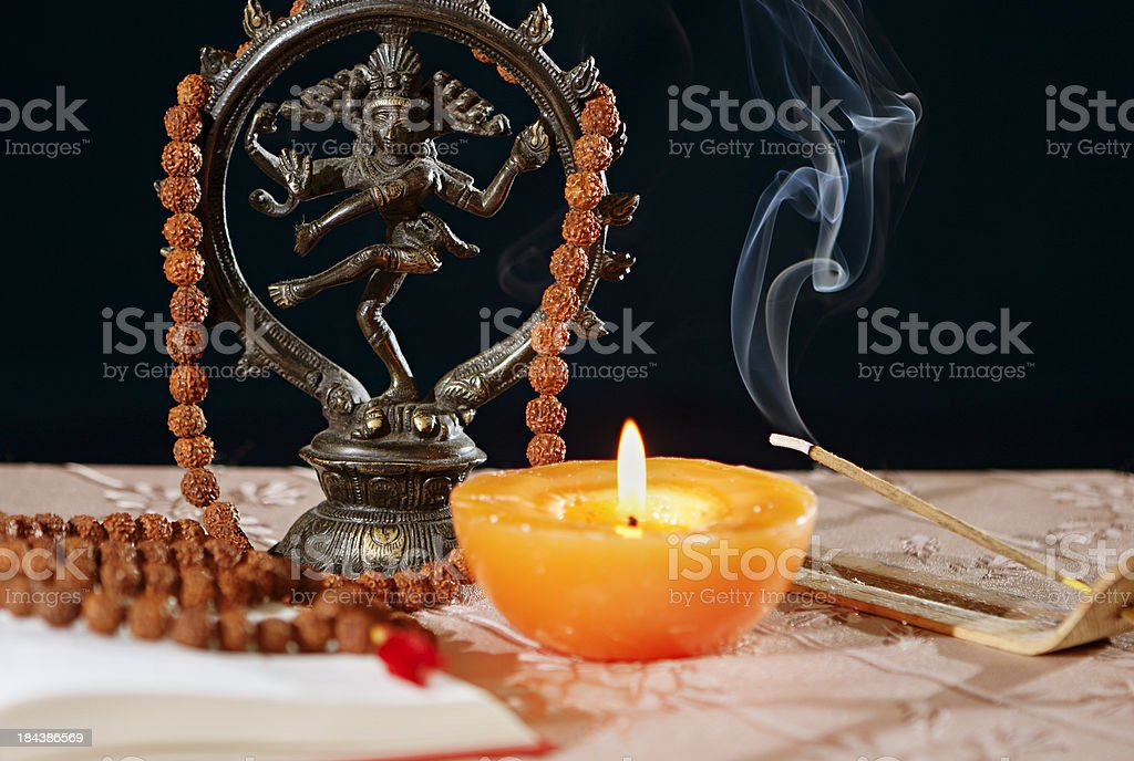 Hinduism symbols stock photo