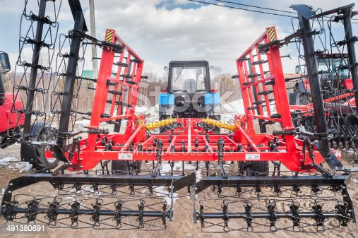 171320236 istock photo Hinged equipment for tractor. Tyumen. Russia 491380891