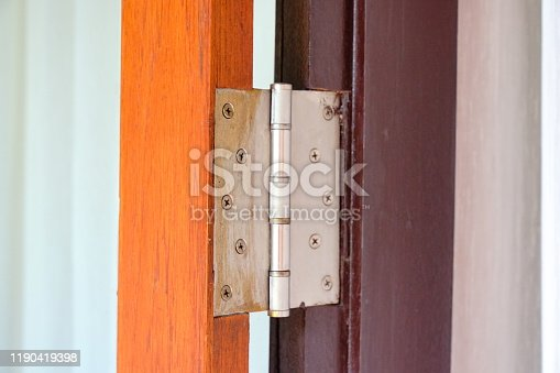 istock Hinges on board doors 1190419398