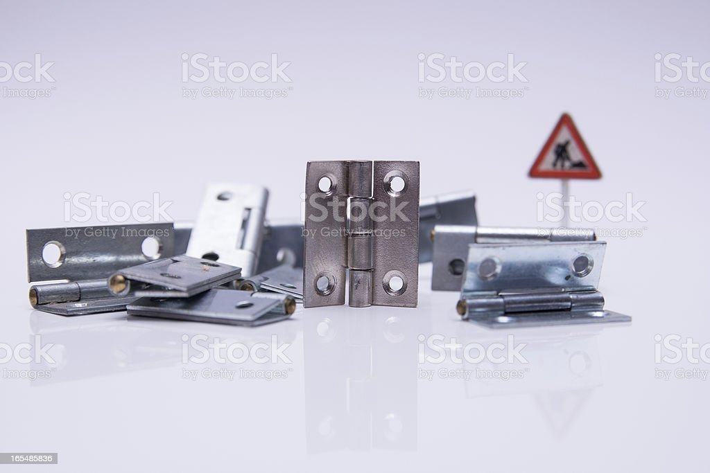 Hinges royalty-free stock photo