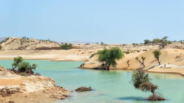 Hingol National Park in Balochistan, Pakistan, taken in August 2019 stock photo