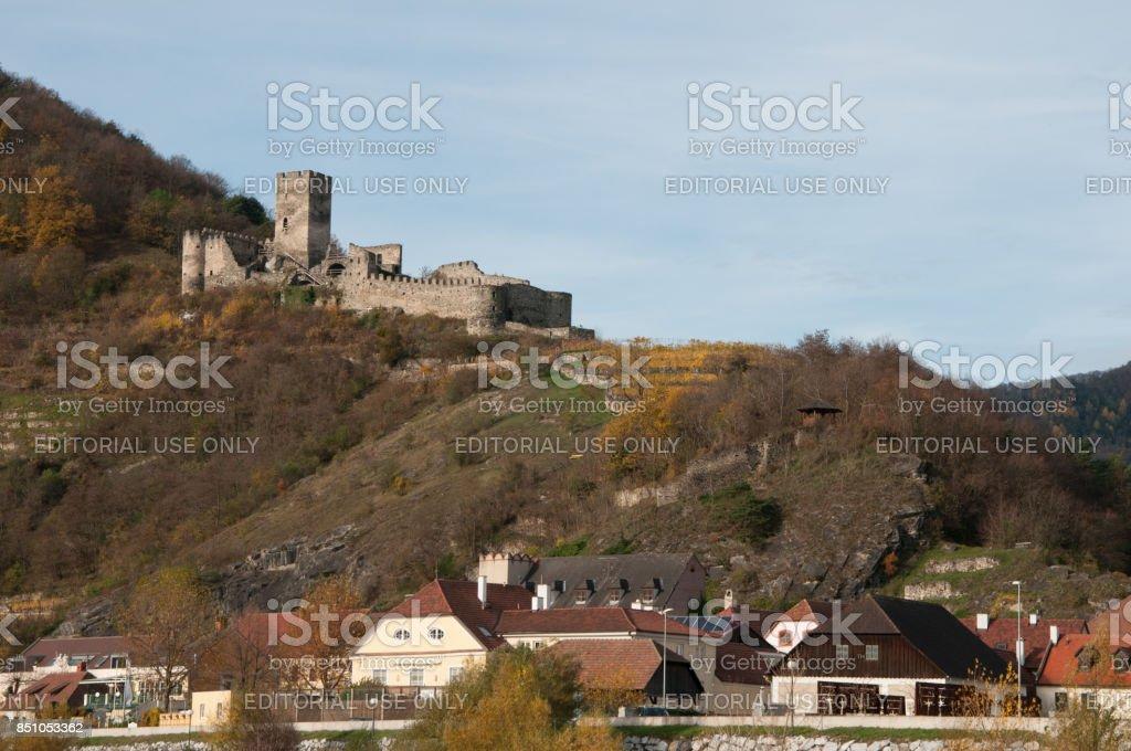 Hinterhaus Castle of Wachau Valley, Austria. stock photo