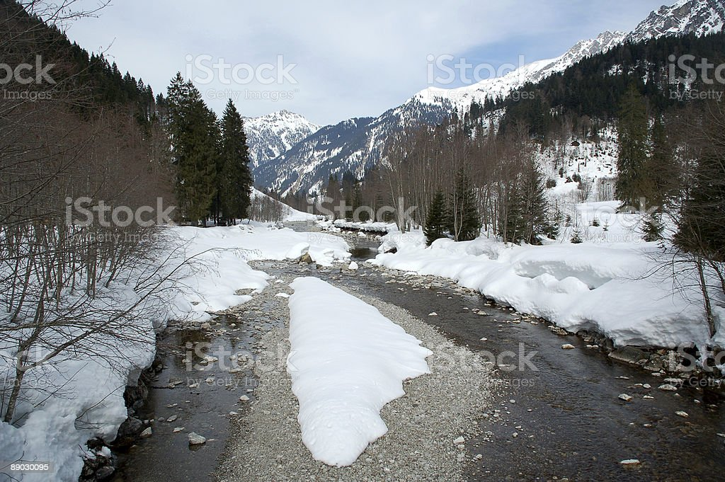 Hinterstein Valley 3 royalty-free stock photo