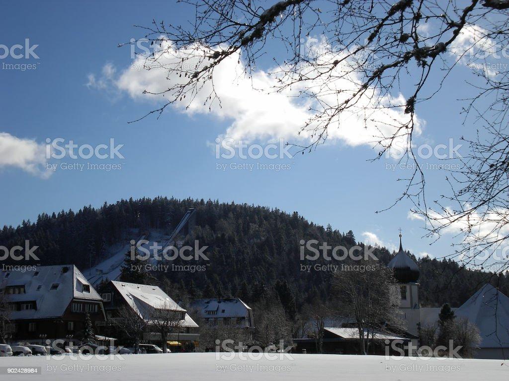 Hinterzarten in winter stock photo