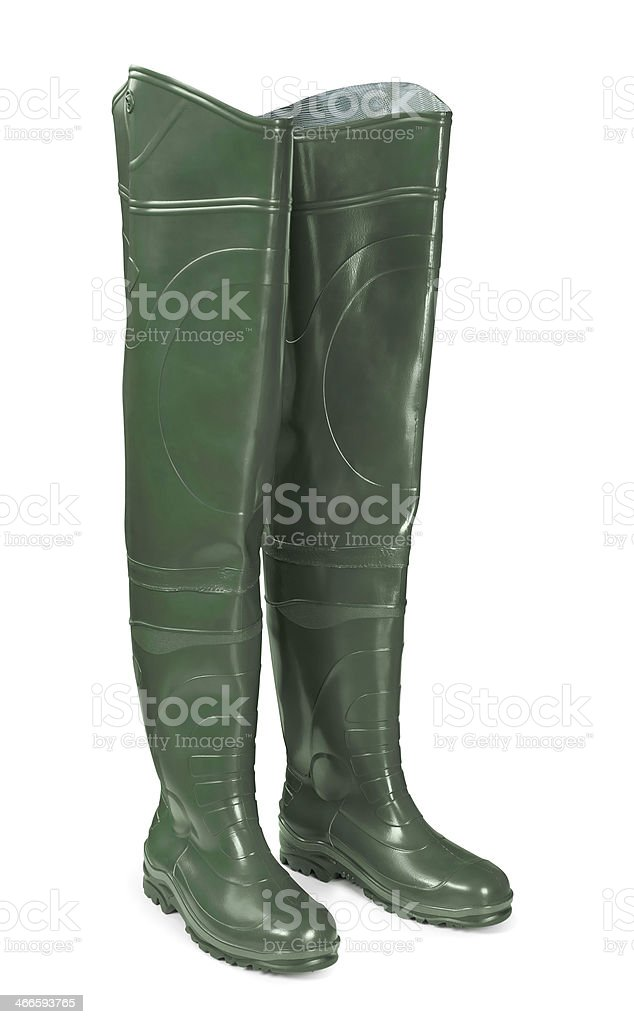 Hip boots stock photo