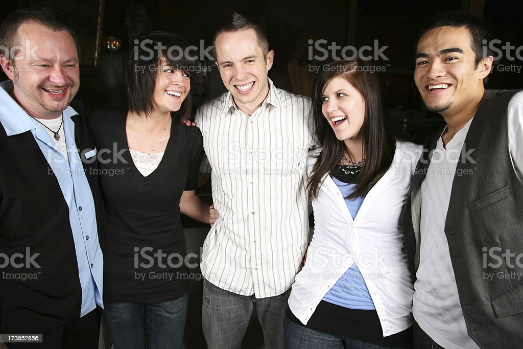 Hip Group of Friends royalty-free stock photo