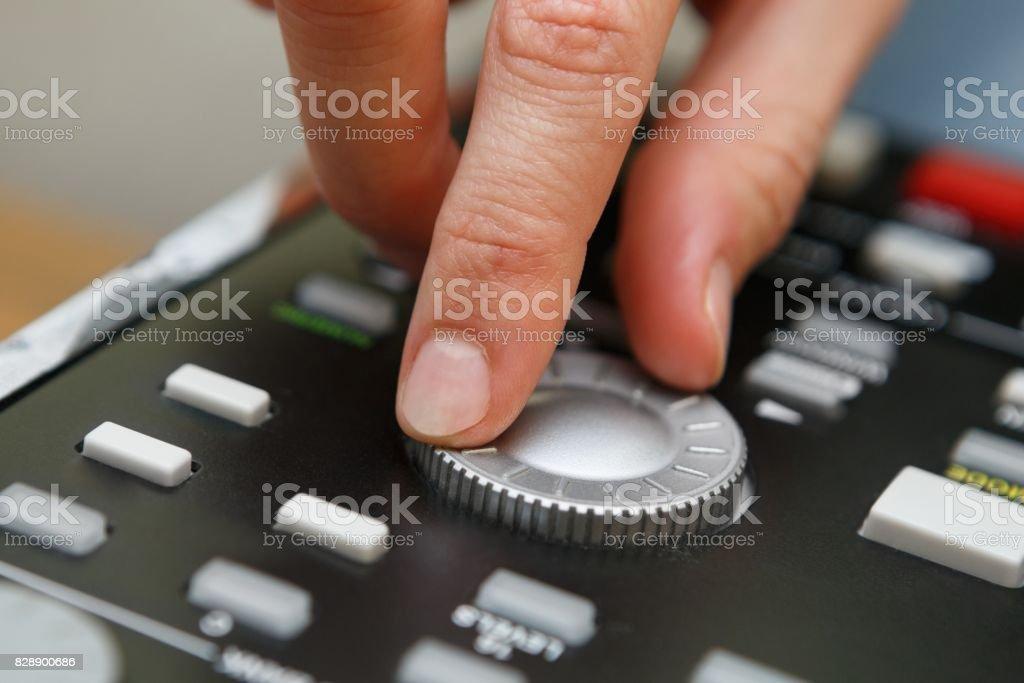 Hip hop beat maker producer make a beat stock photo